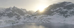 Terragen Art - Snowy Mountains by LikwitSnake
