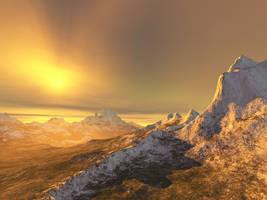 Terragen Art - Snowy Mountain2 by LikwitSnake