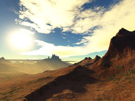Terragen Art - Mountains 3 by LikwitSnake