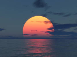 Terragen Art - Sunset by LikwitSnake