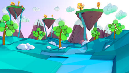 low poly environnement