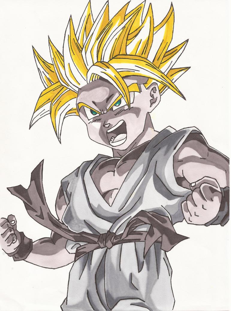 Super Saiyan Kid Trunks  Color  by Earthquake2009Kid Trunks Super Saiyan 5