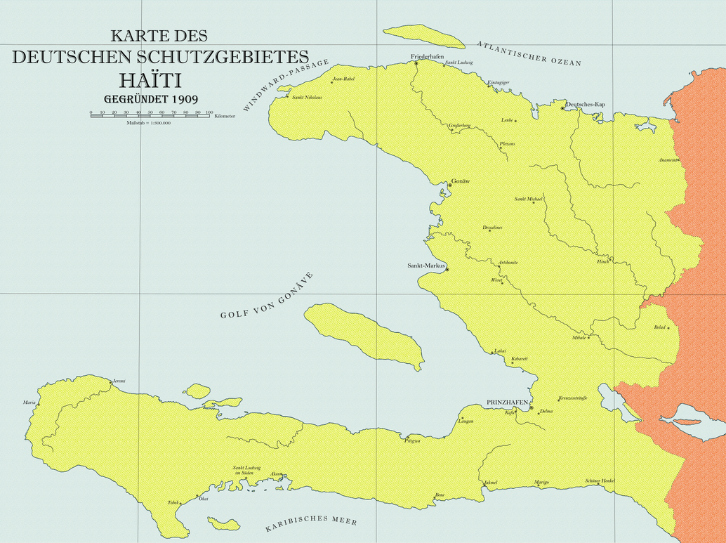 Haiti Karte.German Protectorate Of Haiti By Thekutku On Deviantart
