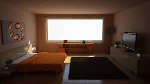 Orange Bedroom(READ DESCRIPTION)