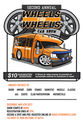 Annual Wheels for Wheels Show flyer 2017 by MasonButts
