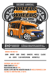 Annual Wheels for Wheels Show flyer 2017