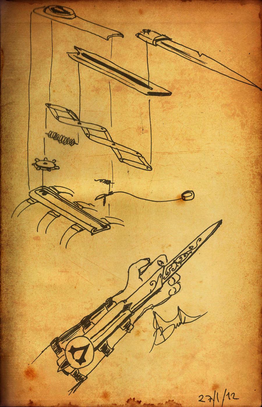 Ассасин скрытый клинок своими руками