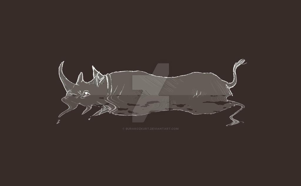 Rhino by burakozkurt