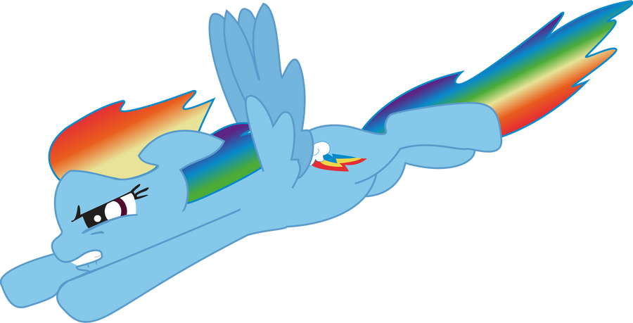 my little pony fim rainbow dash fly vector by chaosgiant