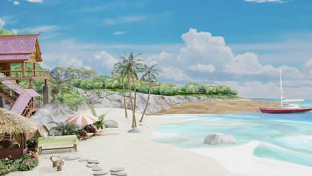 Street Fighter V - Kanzuki Beach (XPS, Stage)