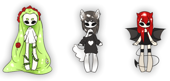 .:: Adoptables - Monster Girls ::. {CLOSED} by Lilitihum