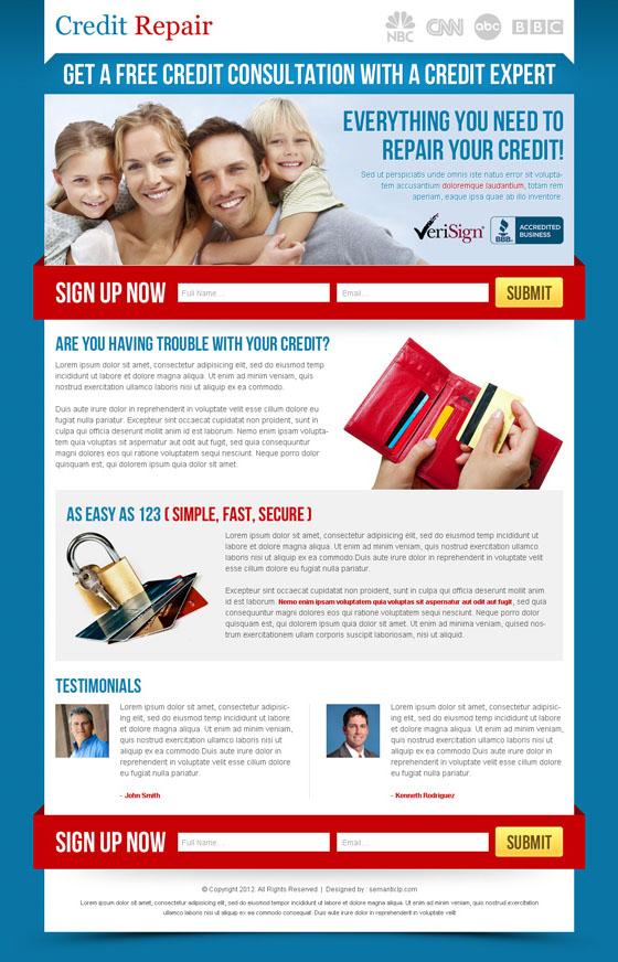 Credit repair landing page by semantic123