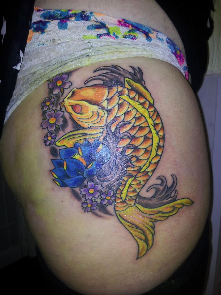 koi carp tattoo by ryanutopiatattoo designs interfaces tattoo design ...