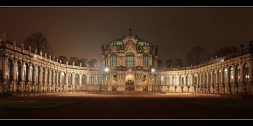 Dresden Zwinger at Night DRI