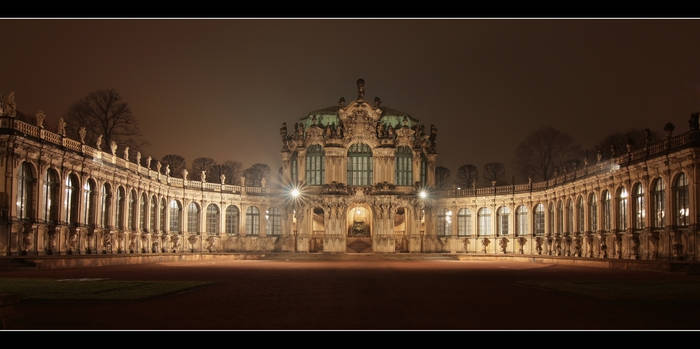 Dresden Zwinger at Night DRI