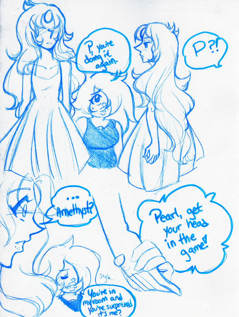 Steven Universe - Pearl+Amethyst - DaD Comic by gyakuten-no-megami
