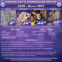 Commission prices for 2019 by Kirumo-Kat
