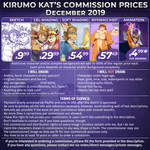 Commission prices for December 2019