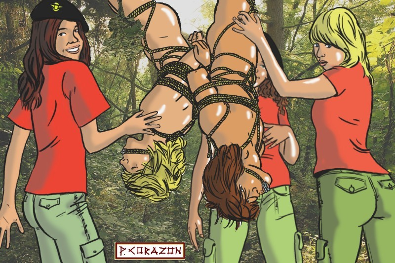 Scout girl lesbian tickled