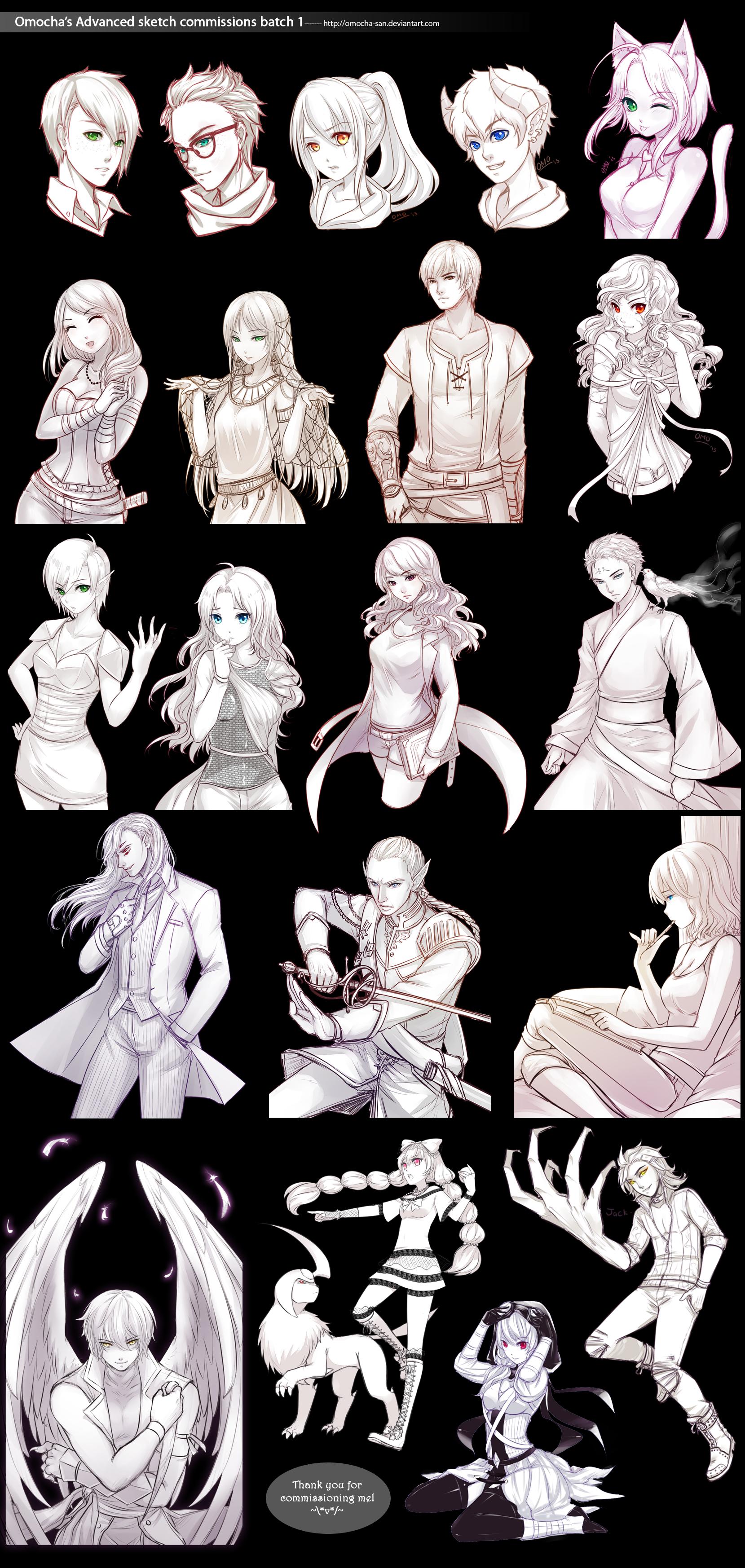 Commission: Advanced sketch batch 1 by ZenithOmocha