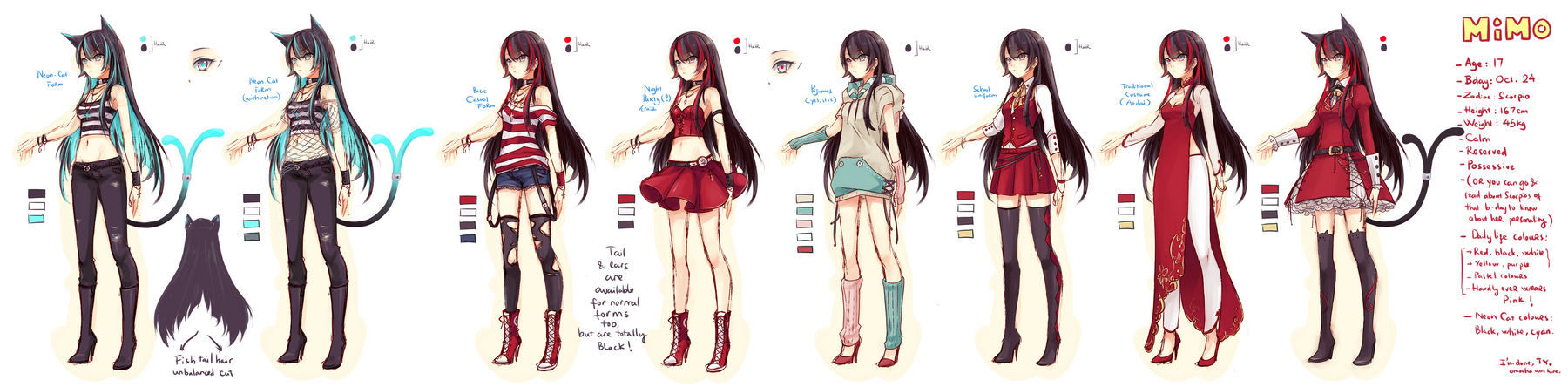 Mascot: Mimo's outfit references