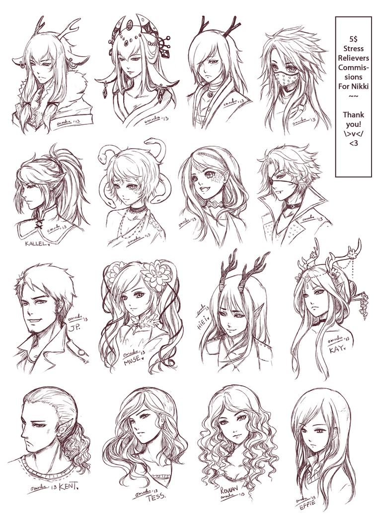 SRC Batch Nikkis By ZenithOmocha On DeviantArt - Hairstyle in drawing
