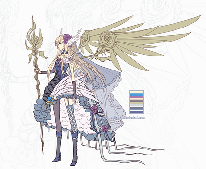 Adoptable: Steampunk Rose Angel