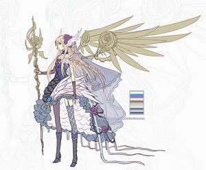 Adoptable: Steampunk Rose Angel