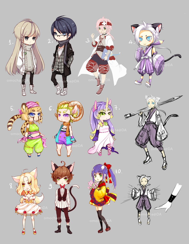 Adoptables auction batch 1 [closed] by ZenithOmocha