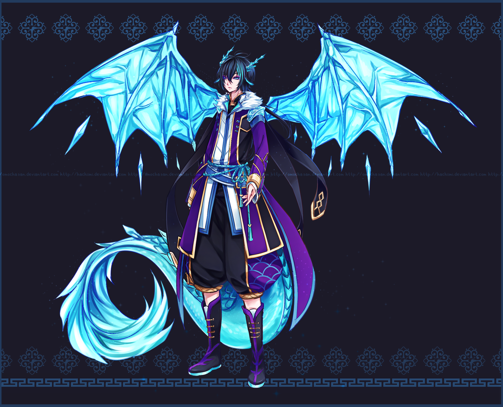 Chixomo adopt bonus 06 by zenithomocha on deviantart - Anime boy dragon ...