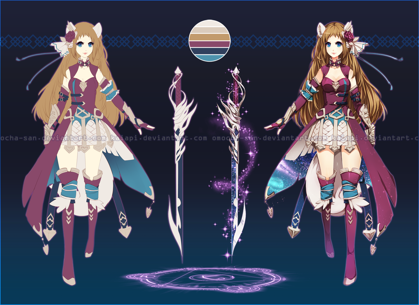 adopt fantasy swordgirl closed by zenithomocha on