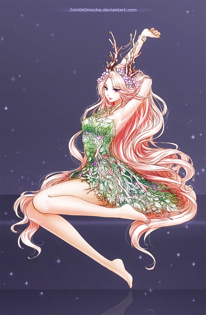 Commission freesia by zenithomocha on deviantart Goddess of nature greek