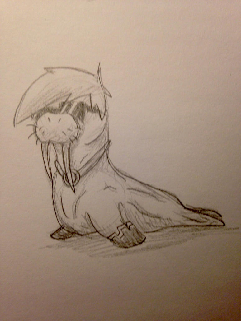 Drawing Challenge Day 106: Skydoeswalrus by hayy1