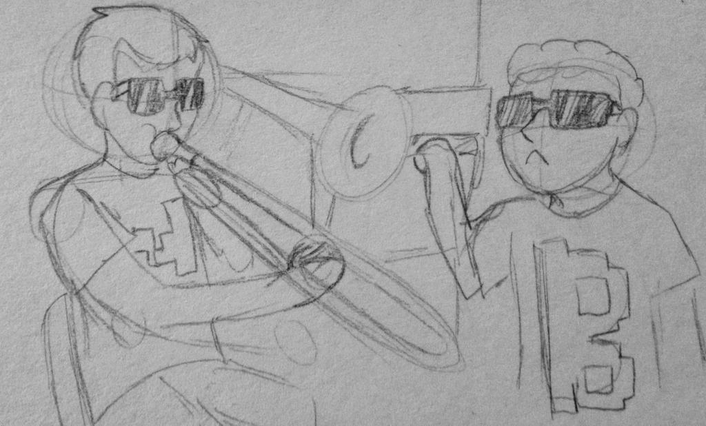 Drawing Challenge Day 132: When Mark is not home by hayy1
