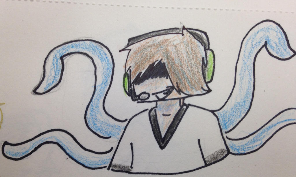 Drawing Challenge Day(11/24/14) 133: Squidlox by hayy1