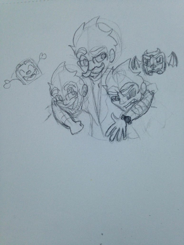 Drawing Challenge Day (1/26/15) 196: The gang by hayy1