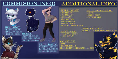 Paypal Commission Info! (OPEN) More Info in DESC!