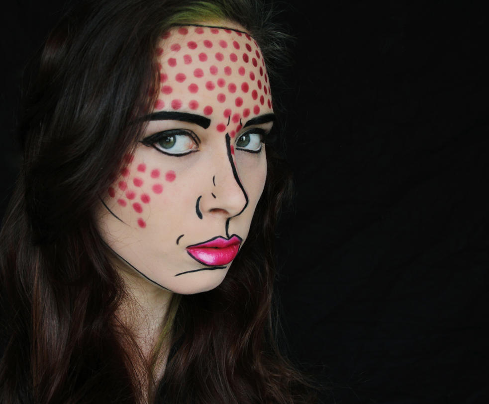 Comic Book Makeup by iamonlyjustme on DeviantArt