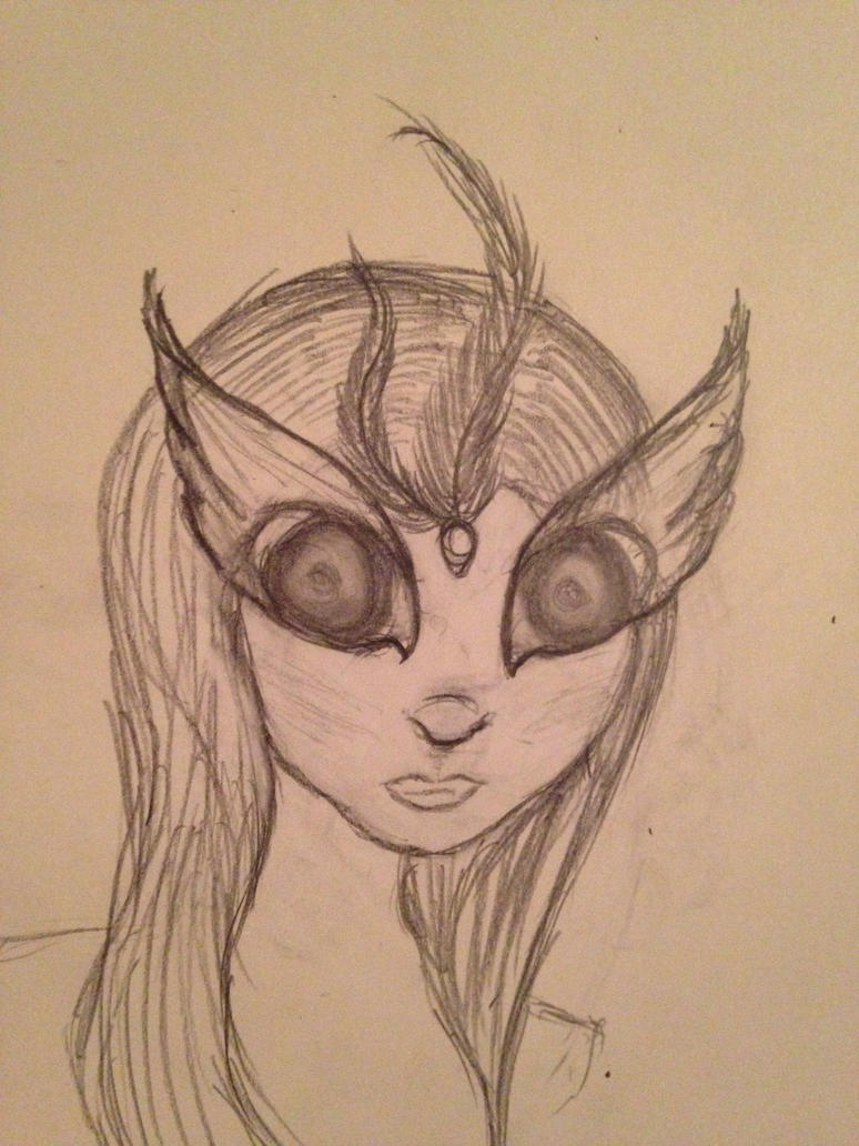 Random female sketch by blueyellowgreen