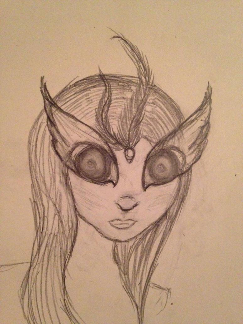 Random female sketch by blueyellowgreen