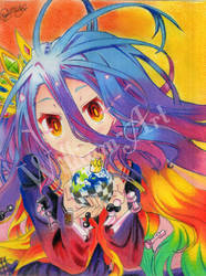 Shiro-Nogame no Life (Drawing) by William-Art