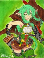 Elfa Arquera-High Elf Archer/Goblin Slayer/Drawing by William-Art