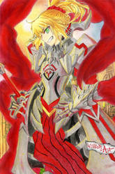 Mordred Red SaberFate Apocrypha (Drawing) by William-Art