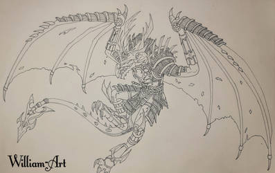 Ronin - Wra Dragons (Traditional Lineart)
