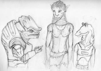 Alien Sketch Dump by Karlika