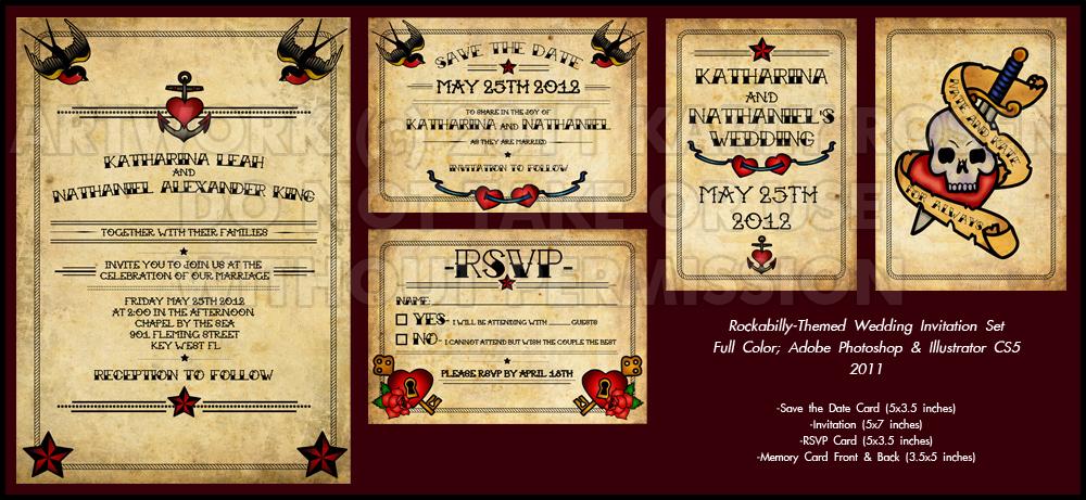 Rockabilly-Themed Invitation Set by Karlika on DeviantArt