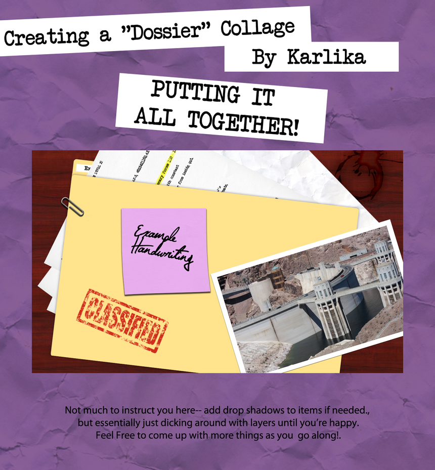 Dossier Collage Tutorial 7 by Karlika