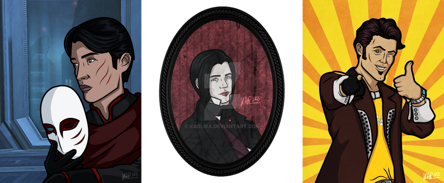 700 Followers Contest Portraits by Karlika
