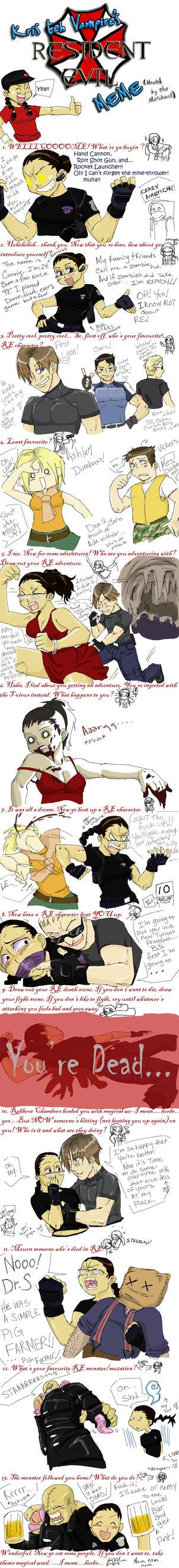 Resident Evil meme by neoanimegirl
