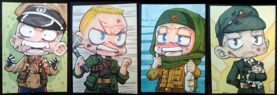 Call of Duty Zombie ATC set by neoanimegirl